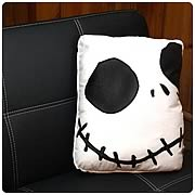 Bed and Bath > Nightmare Before Christmas - Bring Jack Skellington into your home! Cozy, creepy and cute! Over 16-inches tall! Bring the one and only Jack Skellington into your home, with this cozy, creepy and cute Nightmare Before Christmas Smiling Jack Square Pillow! Measuring over 16-inches tall, this is a great way to liven up a couch and cuddle up to in bed! Featuring the smiling face of Jack Skellington from Tim Burtons classic  The Nightmare Before Christmas , this is the perfect addition to any home. Order yours today!: Sizes