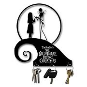 Home Décor > Nightmare Before Christmas - Add some Halloweentown flair to your home! Mountable metal key hooks featuring Jack and Sally from  The Nightmare Before Christmas ! 3 hooks in one great gift! Add some Halloweentown flair to your home, with these Nightmare Before Christmas Spiral Hill Metal Key Hooks. Ready to mount in any room, these key hooks feature sillhouettes of Jack Skellington and Sally atop Spiral Hill, from Tim Burtons classic  The Nightmare Before Christmas . Order yours today!: Sizes