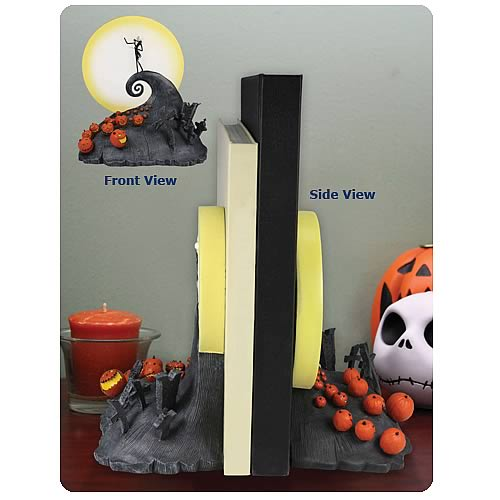 Nightmare Before Christmas Spiral Hill Bookends