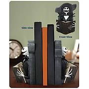 Bookends > Nightmare Before Christmas - Breathe some life into your bookshelves with these  Nightmare Before Christmas  bookends!    Featuring  NBXs  one-and-only Jack Skellington.    Makes a great gift!       Breathe some life into your bookshelves with these  Nightmare Before Christmas  bookends! Featuring the one-and-only Jack Skellington enjoying his favorite book, these high-quality Nightmare Before Christmas Jack Reading Bookends stand approximately 8-inches tall.  Order yours today!: Sizes