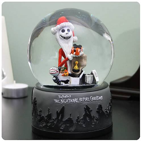 Nightmare Before Christmas Santa Jack with Gifts Water Ball