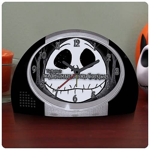 Nightmare Before Christmas Jacks Head Alarm Clock