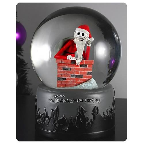 neca nightmare before christmas snow globes nightmare before christmas ...