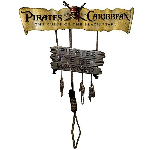 Pirates of the Caribbean Wooden Decorative Sign