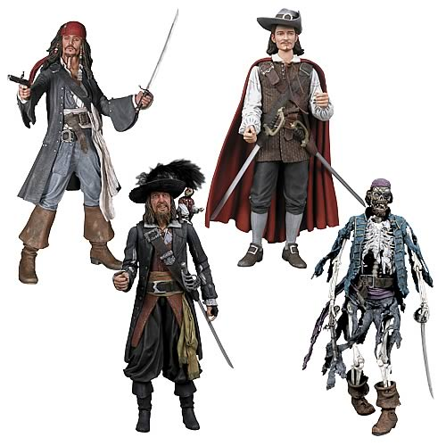 Pirates Of The Caribbean Toys : Pirates of the caribbean inch action figure case neca