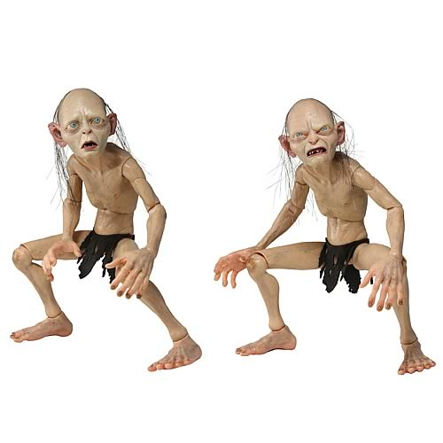 Lord of the Rings Gollum and Smeagol 1:4 Scale Figures