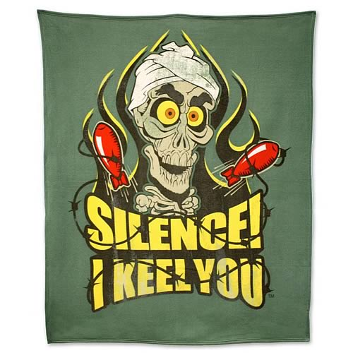 Jeff Dunham Achmed Silence! I Keel You! Fleece Bed Throw
