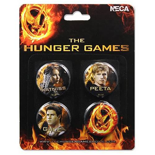 Hunger Games Movie Cast 4-pack Pin Set