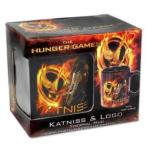 Hunger Games Movie Katniss and Logo Thermal Mug