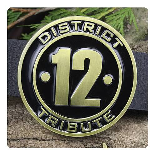 Hunger Games Movie District 12 Tribute Belt Buckle