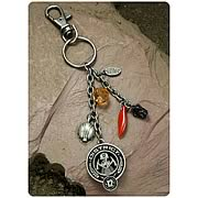 Hunger Games Movie District 12 Coal Mining Clip-On Key Chain