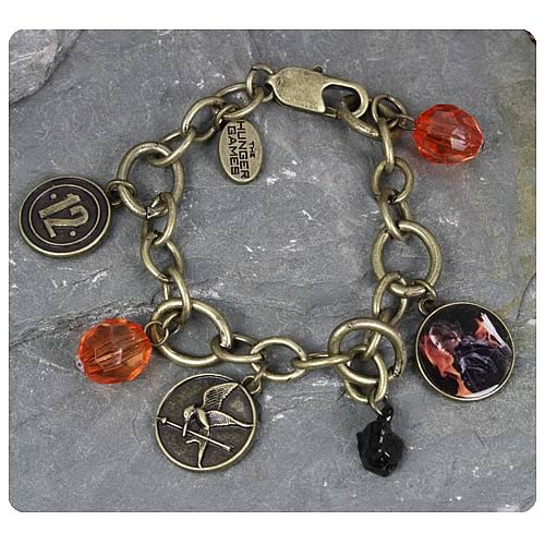 Hunger Games Movie Katniss District 12 Charm Bracelet
