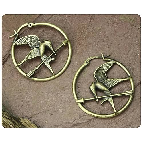Hunger Games Movie Mockingjay Hoop Earrings