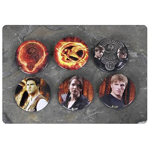 Hunger Games Movie Cast 6-Pack Pin Set