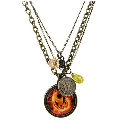 Hunger Games Movie Mockingjay Triple Chain Necklace
