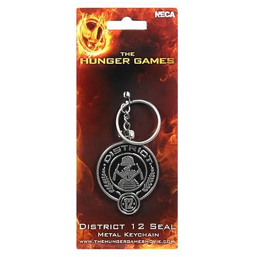 Hunger Games Movie District 12 Coal Mining Metal Key Chain