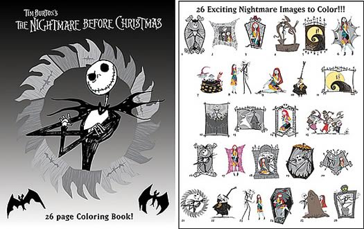 nbx 2003 coloring book - Nightmare Before Christmas Coloring Book