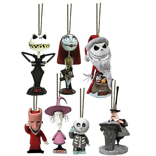 Head Knocker Ornaments Set of 7 - NECA - Nightmare Before Christmas ...