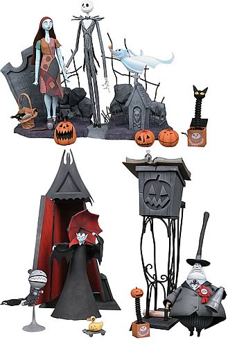 Nightmare Before Christmas Statue Exclusive Sculpture Set