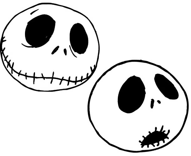 jack skellington face template - nightmare before christmas magnet faces neca nightmare