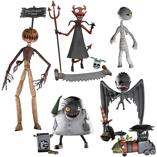 Nightmare Before Christmas Action Figures Series 4 Set - NECA ...