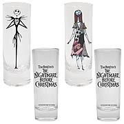 Kitchenware > Nightmare Before Christmas - Your toothpicks will rejoice. This set of toothpick holders includes 2 glasses, each featuring an image of either Jack Skellington or Sally and  The Nightmare Before Christmas  logo.  Your toothpicks will love their new home (as will your booze).: Sizes