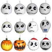 Home Décor > Nightmare Before Christmas - House been hit with another blackout?  Then light up some Jack Skellington head candles and enjoy his many faces.  This set of 12 votive candles features different faces of Jack from Nightmare Before Christmas.: Sizes