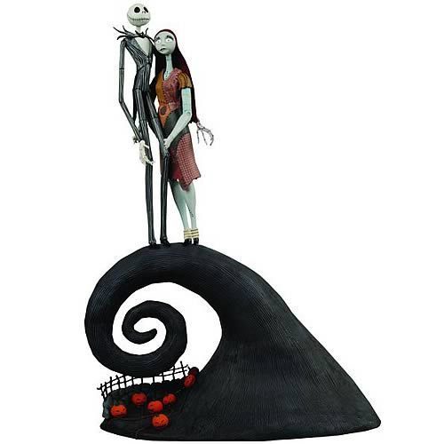 NBX Jack and Sally on Spiral Hill Action Figures