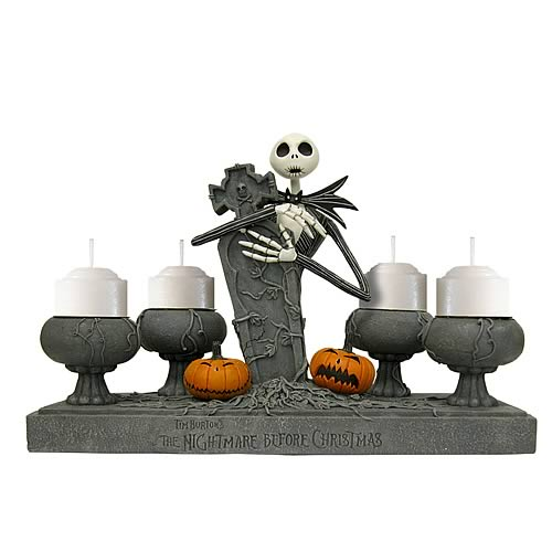 NBX Jack Skellington Tombstone Votive Candle Holder