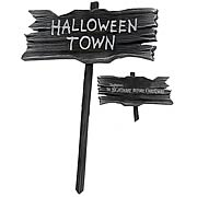 Signs > Nightmare Before Christmas - Celebrate Christmas and Halloween any time of year! A charming yard sign based on  The Nightmare Before Christmas ! Great for your next party! This fun and charming wooden yard sign from  The Nightmare Before Christmas  will let all your guests know that theyre entering Halloweentown! Great for parties - order yours today! Measures over 37-inches tall.: Sizes