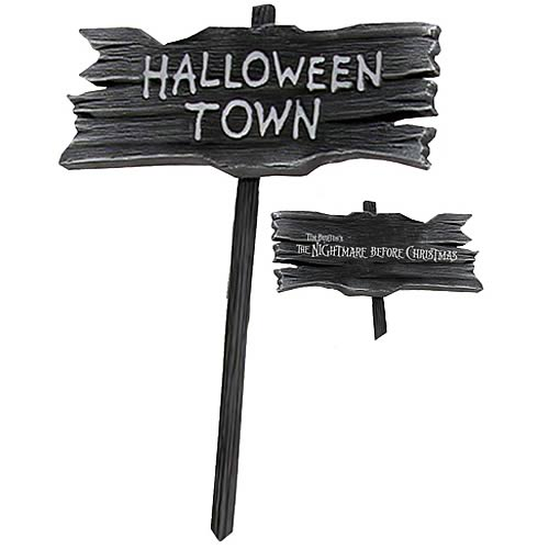 Nightmare Before Christmas Halloweentown Wooden Sign