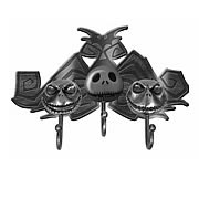 Home > Nightmare Before Christmas - Leave your keys with Jack! Features the many faces of Jack Skellington! Makes a great gift! This plaque features 3 Jack heads with a key hook attached to each one. When mounted to a wall, youve got an all-in-one place for your house, car or anything keys!: Sizes