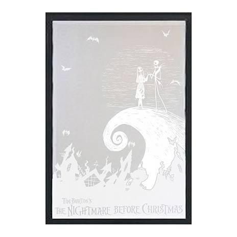 Nightmare Before Christmas Jack and Sally Etched Mirror