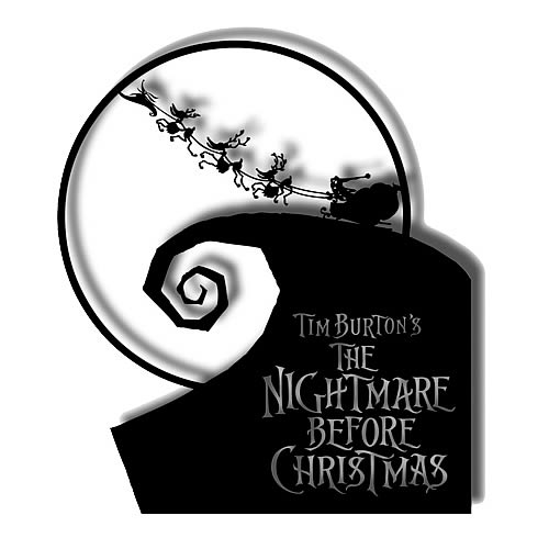Nightmare Before Christmas Set Out to Sleigh Metal Sign