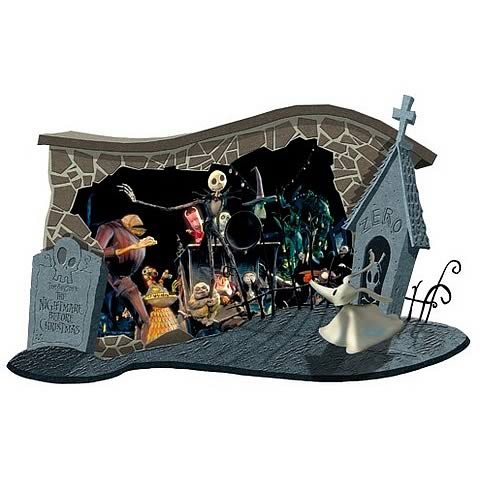 Nightmare Before Christmas Halloween Wall Diorama