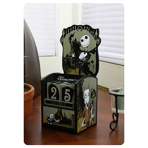 Nightmare Before Christmas Jack and Kids Wooden Calendar