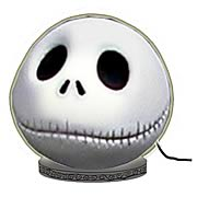 Lamps > Nightmare Before Christmas - Watch Jack shine!   A charming tabletop nightlight featuring the head of Jack Skellington from  The Nightmare Before Christmas !   Style up any room of your home!    No true-blue fans home is complete without this charming tabletop nightlight featuring the head of the one-and-only Jack Skellington from  The Nightmare Before Christmas.  Great for younger fans of Tim Burtons modern classic, the fun light shows Jacks smiling face. Style up any room in your house, or use it to decorate for your next party. And watch Jack shine!: Sizes