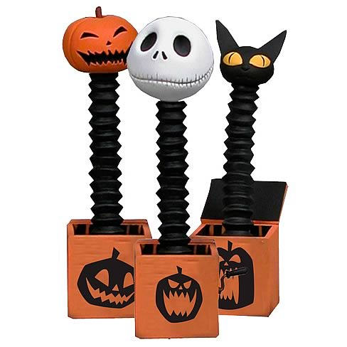 Nightmare Before Christmas Decorative Jack in the Box 3-Pack