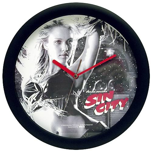 Sin City Nancy Clock
