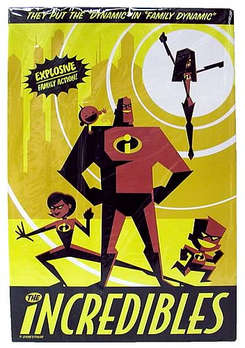 The Incredibles Dynamic Tin Sign