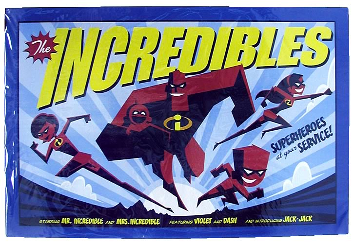 The Incredibles Superheroes Tin Sign