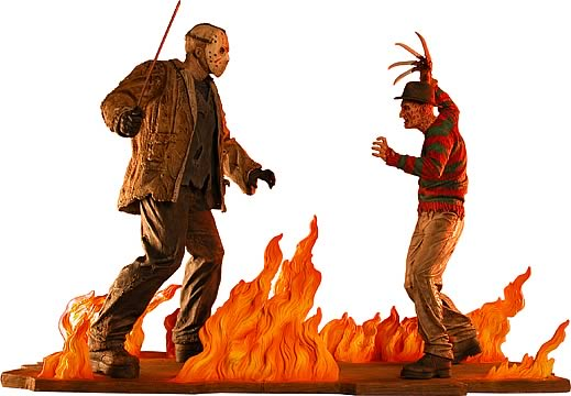 Freddy vs. Jason Statue Set