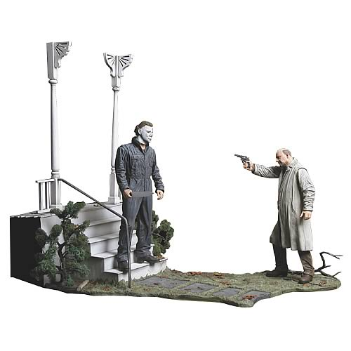 Michael Myers & Dr. Loomis Deluxe Statue Set