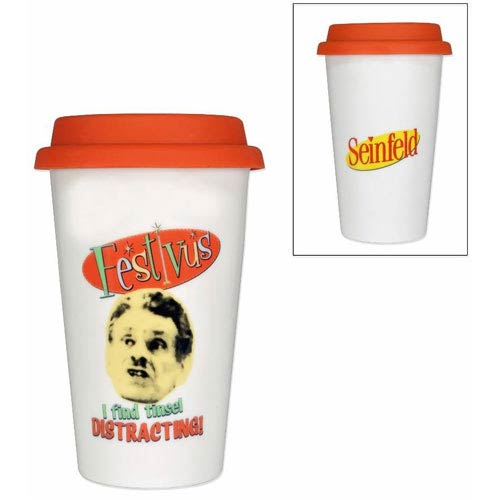 Seinfeld Festivus I Find Tinsel Distracting! Travel Mug