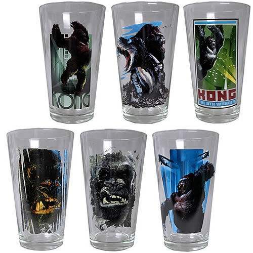King Kong Pint Glass Set