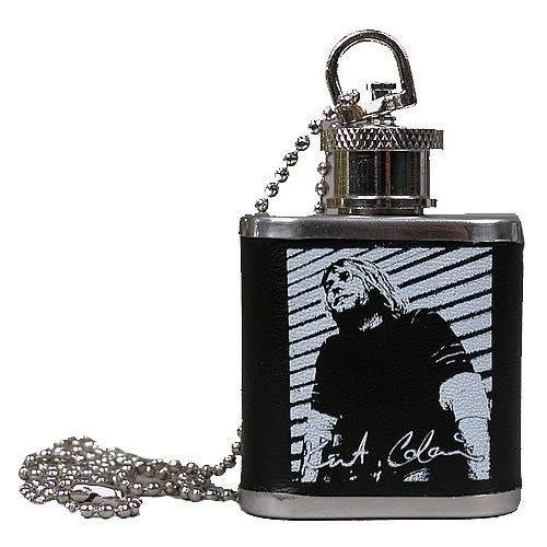 Kurt Cobain Mini Flask Necklace