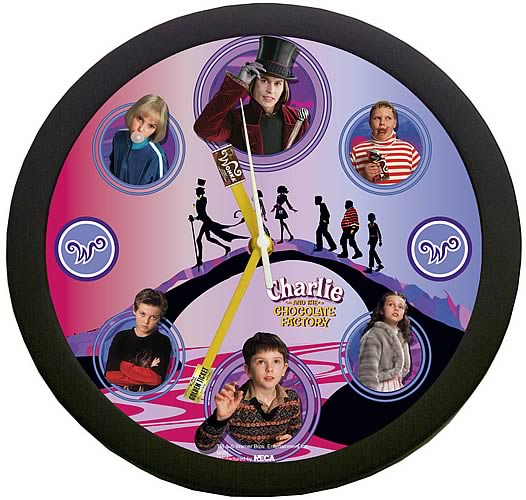 Charlie & The Chocolate Factory Wall Clock