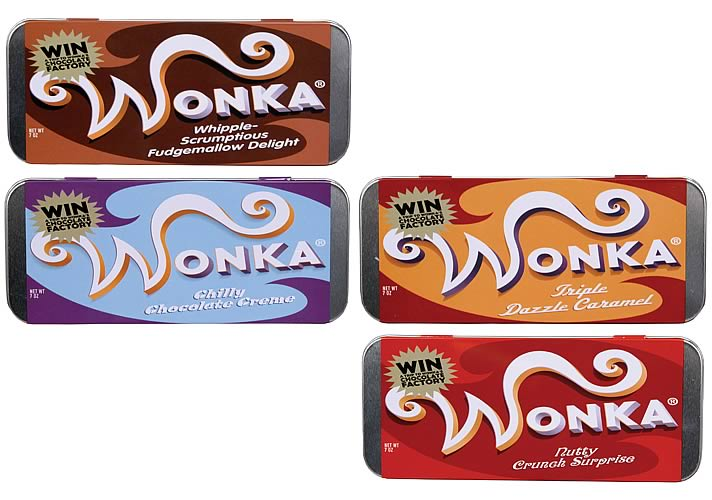Charlie & The Chocolate Factory Wonka Bar Tin Case Set