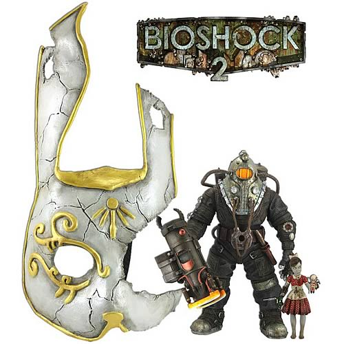 Bioshock 2 Omega & Little Sister with Mask Action Figure Set