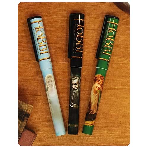 The Hobbit An Unexpected Journey Cast Pen 3-Pack